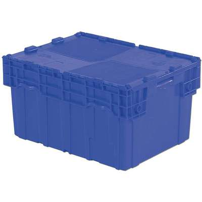 "Attached Lid Container, Blue, 15-13/16""H x 27-7/8""L x 20-7/8""W, 1EA"
