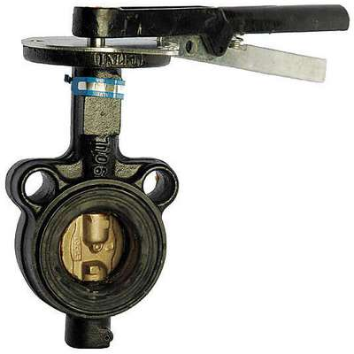 "Wafer-Style Butterfly Valve, Ductile Iron, 200 psi, 3"" Pipe Size"