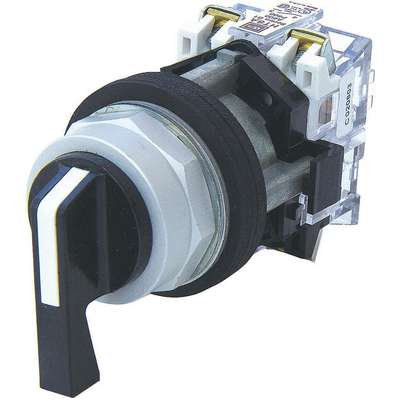 Non-Illuminated Selector Switch, Size: 30mm, Position: 3, Action: Maintained / Maintained / Maintain