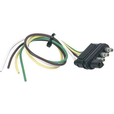 Flat Electric Connector,4-Way,ForTrailer