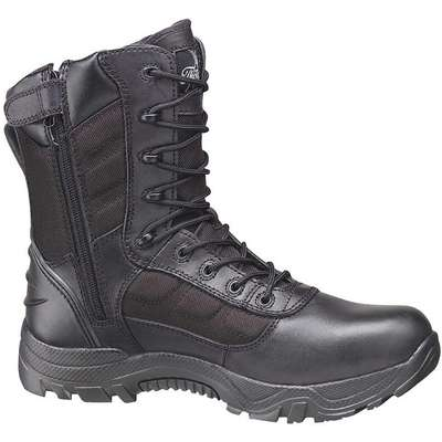 "8""H Unisex Work Boots, Composite Toe Type, Leather and Nylon Mesh Upper Material, Black, Size 9M"
