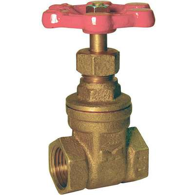 "FNPT Gate Valve, Inlet to Outlet Length: 2.21"", Pipe Size: 1"", Max. Fluid Temp.: 212°F"