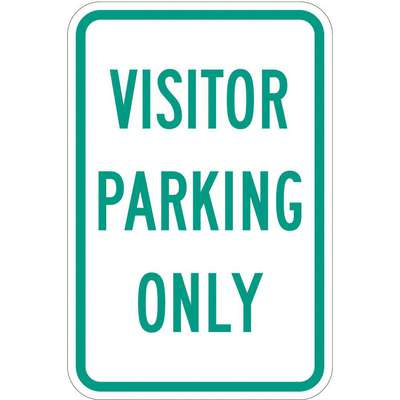 Engineer Grade Aluminum Visitor, Guest and Patient Parking Sign; 18 in. H x 12 in. W