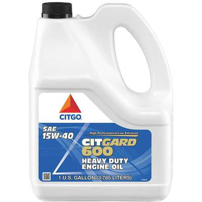 Conventional Diesel Engine Oil, 1 gal. Bottle, SAE Grade: 15W-40, Amber