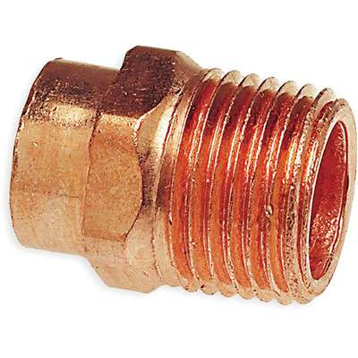 "Wrot Copper Reducing Adapter, C x MNPT Connection Type, 1"" Tube Size"
