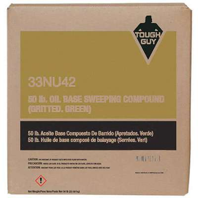 Green Sawdust Sweeping Compound Oil Based with Grit, 1 EA