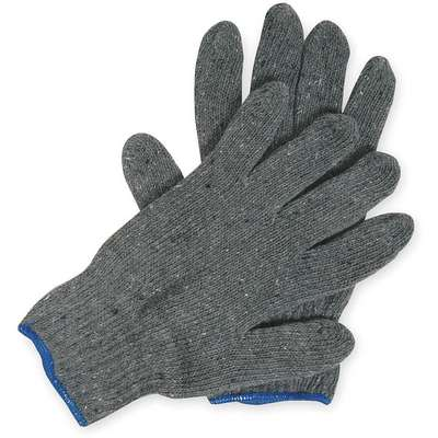 Knit Gloves, XL, Heavyweight, Cotton/Polyester, Uncoated Glove Coating Material, PK 12