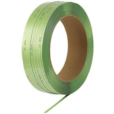 "Heavy Duty, Plastic Strapping, Machine Strapping, 5/8"" Strapping Width, 0.0350"" Thickness"