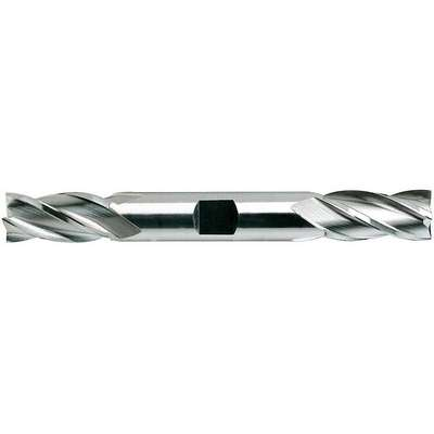 "Square End Mill, 3/8"" Milling Diameter, Number of Flutes: 4, 3/4"" Length of Cut, Bright (Uncoated)"