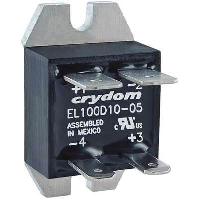 1-Pole Flange Mount Solid State Relay; Max. Output Amps w/Heat Sink: 20