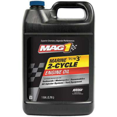 Conventional 2-Cycle Engine Oil, 1 gal. Bottle, SAE Grade: Not Specified, Blue