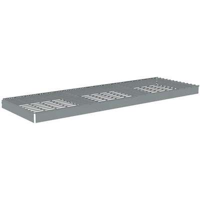 "Steel Shelf, Overall Width: 72"", Overall Depth: 24"", Overall Height: 2-3/4"", Gray"