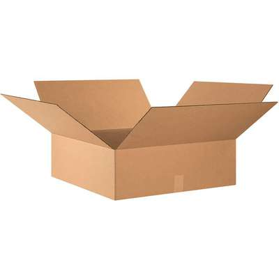 "Shipping Carton, Kraft, Inside Width 24"", Inside Length 24"", Inside Depth 8"", 65 lb., 1 EA"