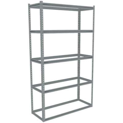 "Starter Boltless Shelving with None Decking, 5 Shelves, 48-5/8""W x 18-5/8""D x 84""H"