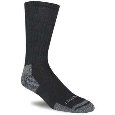 Men's Crew Work Socks, Black, 3 PK