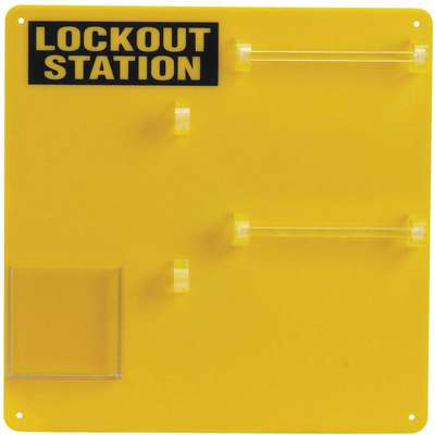 "Lockout Board, Unfilled, 13-1/2"" x 13-1/2"""