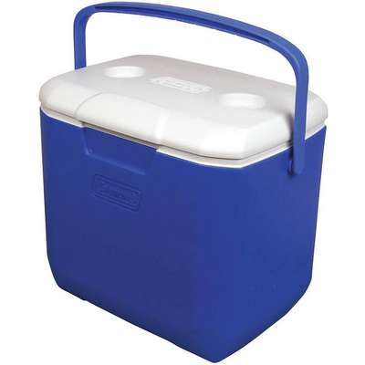 Plastic 30.0 qt. Personal Cooler, Ice Retention Up to 3 days, Blue