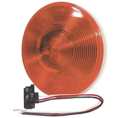 Truck-Lite® Super 40 Stop/Turn/Tail, Incandescent, Red Round, 1 Bulb, PL-3, 12 V, 40242R