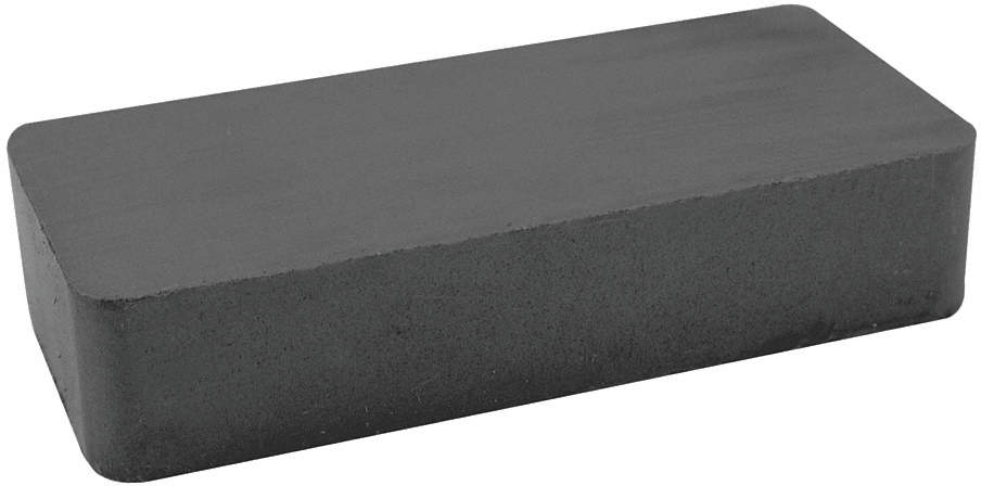 Block Magnet,6 x 4 x 1/2 In,