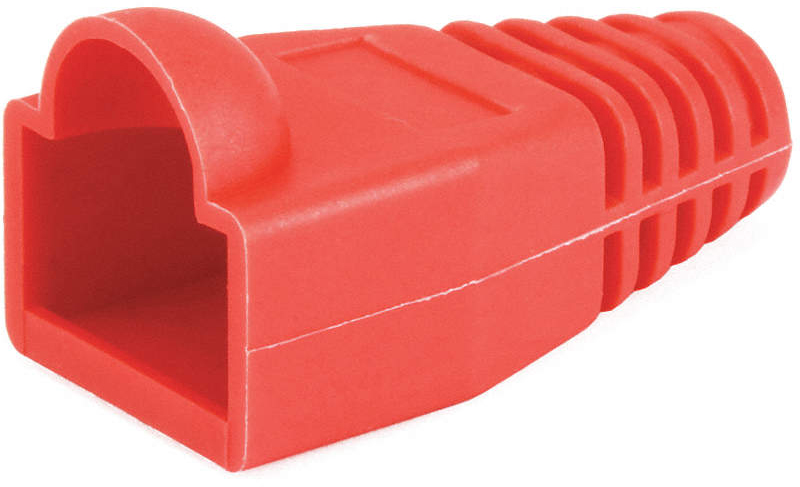 Relief Boot, RJ45, Red,PK50
