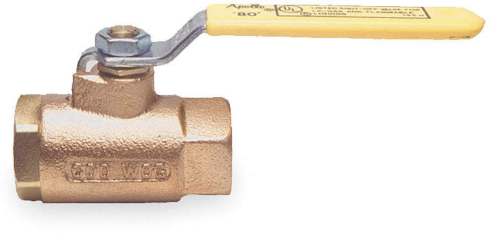 Ball Valve,Shut Off,1/2 In Npt,