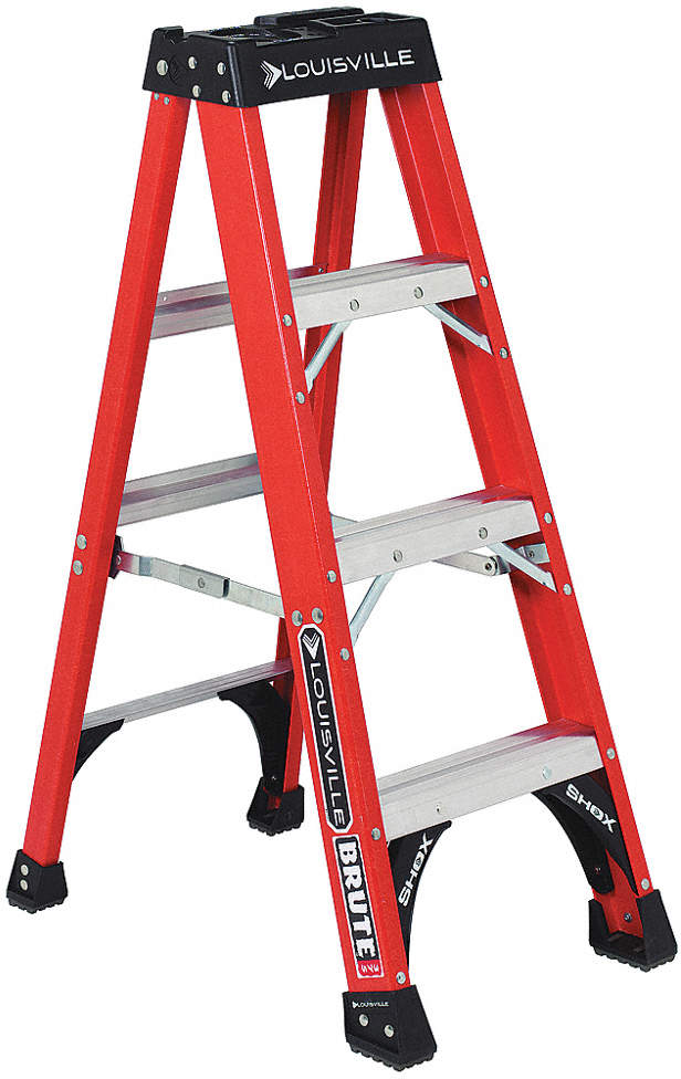 Stepladder,Fiberglass,4 Ft. H,