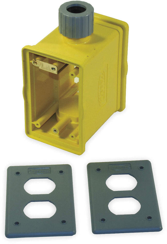 Portable Outlet Box,Yellow,