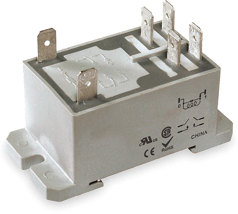 Enclosed Power Relay,6 Pin,