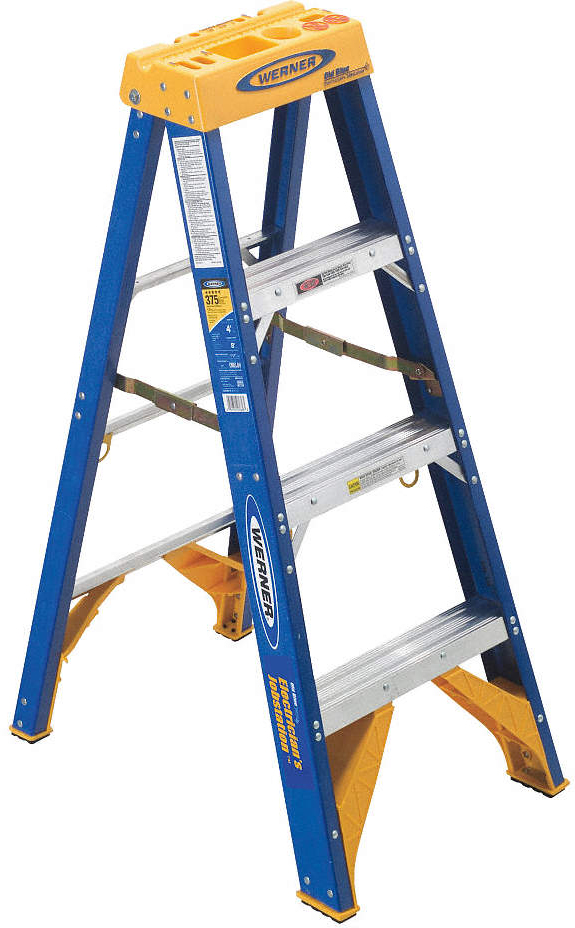 Stepladder,4  Ft,Electricians,