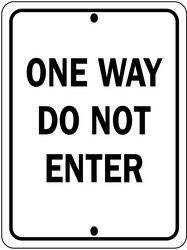 Traffic Sign,24 x 18In,Bk/Wht,