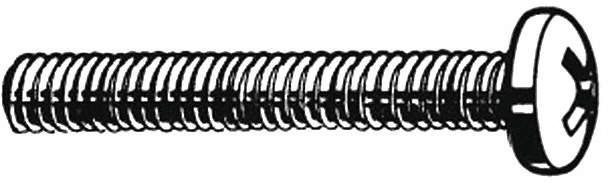 Mach Screw,Pan,12-24x1 1/2 L,