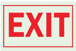 Exit Sign,10 x 14In,R/Wht,Exit,