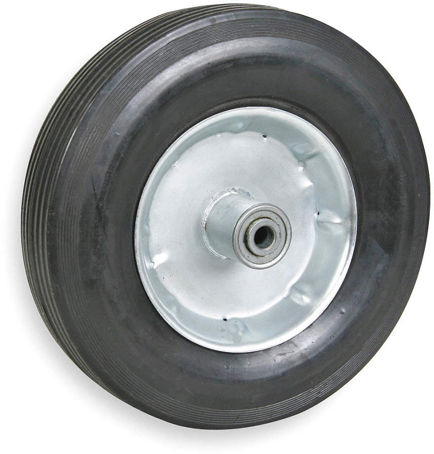 "Solid Rubber Wheel,Dia. 10"","