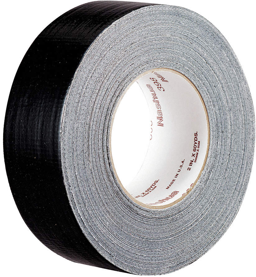 398 NASHUA Polyethylene Coated Cloth Duct Tape,72mm x 55m,11 mil,Silver Gray