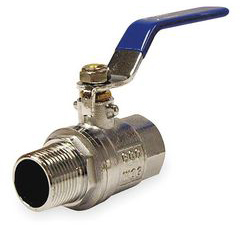 Ball Valve,Brass,1/4 In NPT M