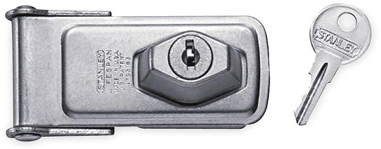 "Locking Hasp,Steel,3-1/2"" L"