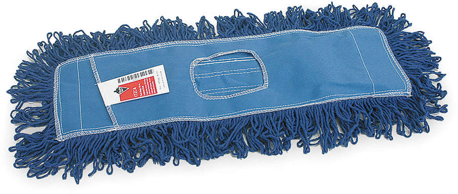 Dust Mop,Sz 18 In,Blue