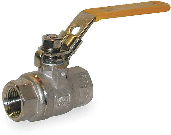Ball Valve,Two Piece,1/2 In,