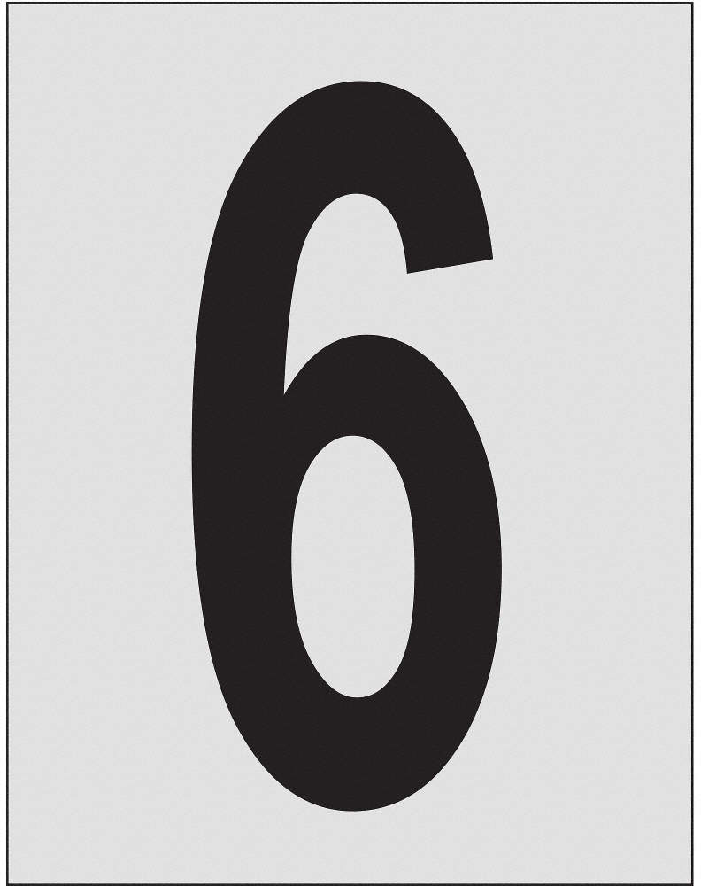 Number Label,1in.H Character,
