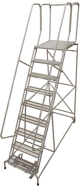 Rolling Ladder,Steel,120In. H.,