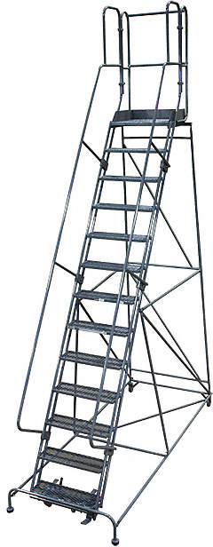 Rolling Ladder,Steel,172In. H.,