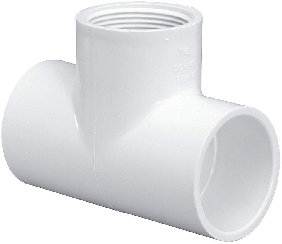 924870 8 PVC Tee Socket X FNPT 3 4 Pipe Size