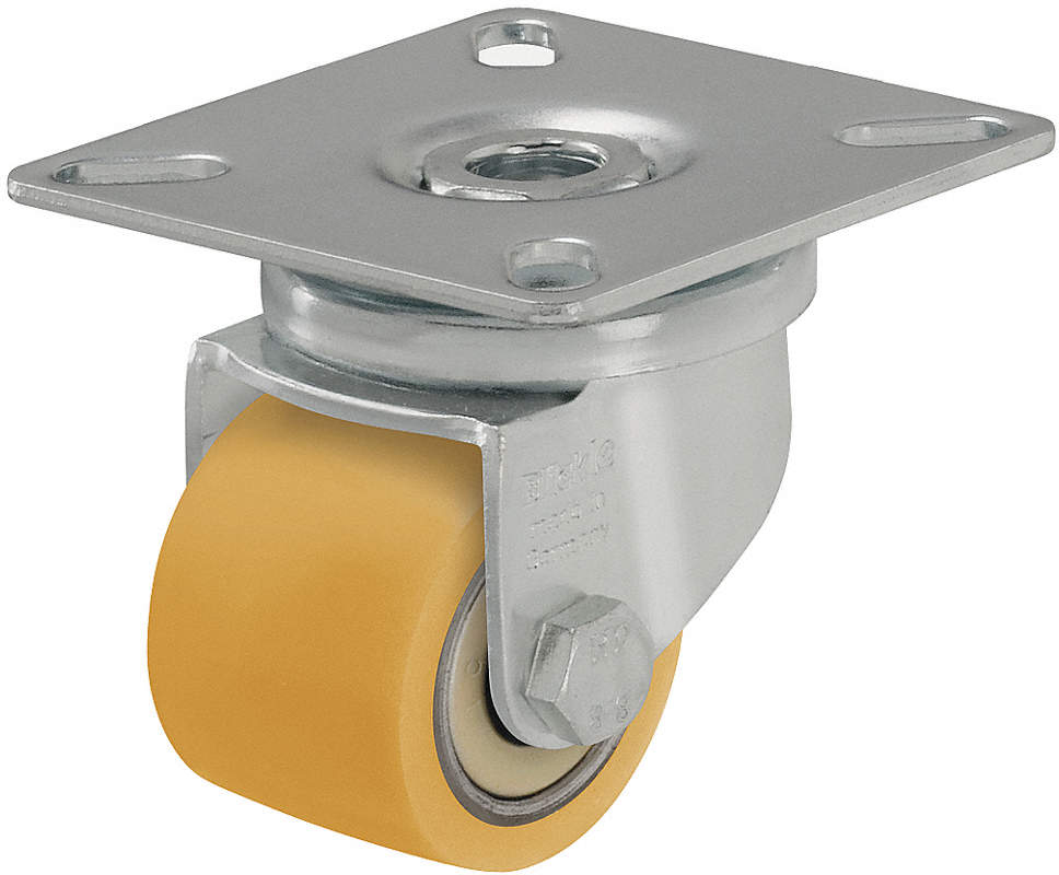 Swvl Plate Caster,Poly,1-3/8