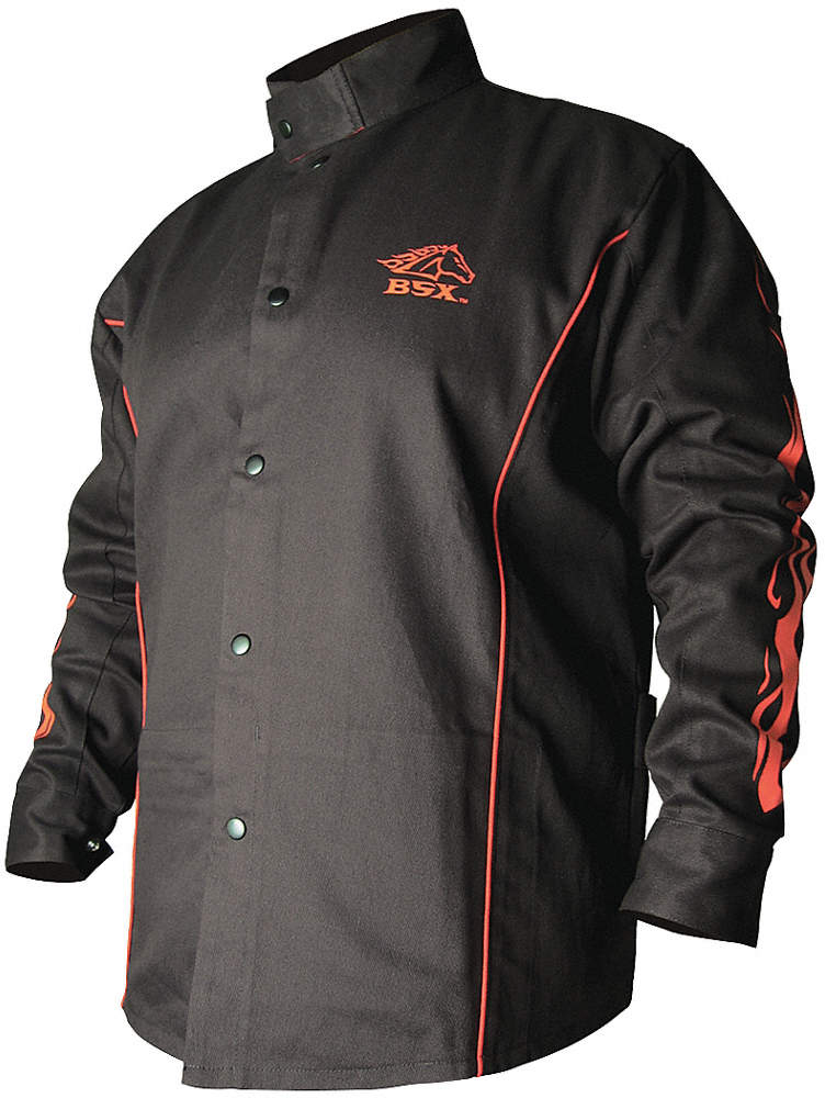 Welding Jacket,Fr,Cotton,Black,