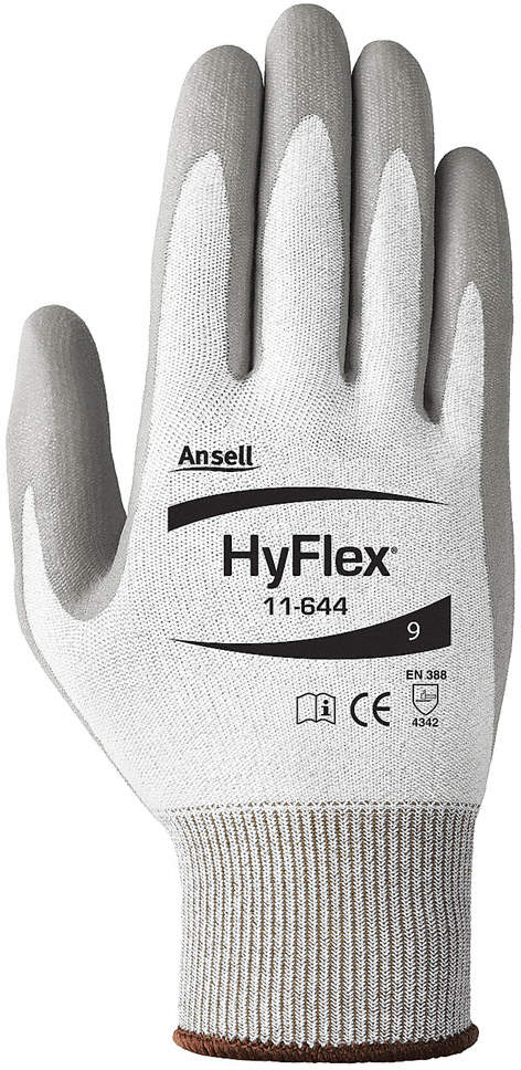 Glove,Cut Resistant,Light Gray,