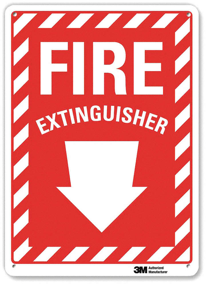 Fire Extinguisher Sign,14x10