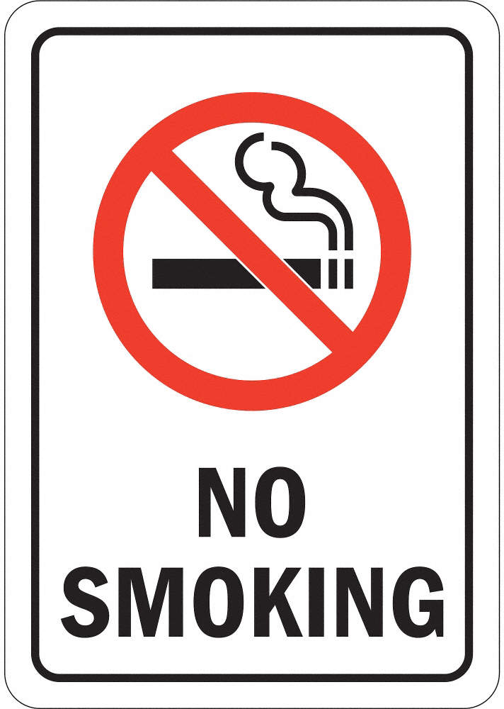 No Smoking Sign,10x7 In.,