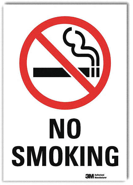 No Smoking Sign,14x10 In.,