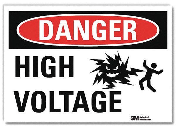 Danger Sign,7x5 In.,English