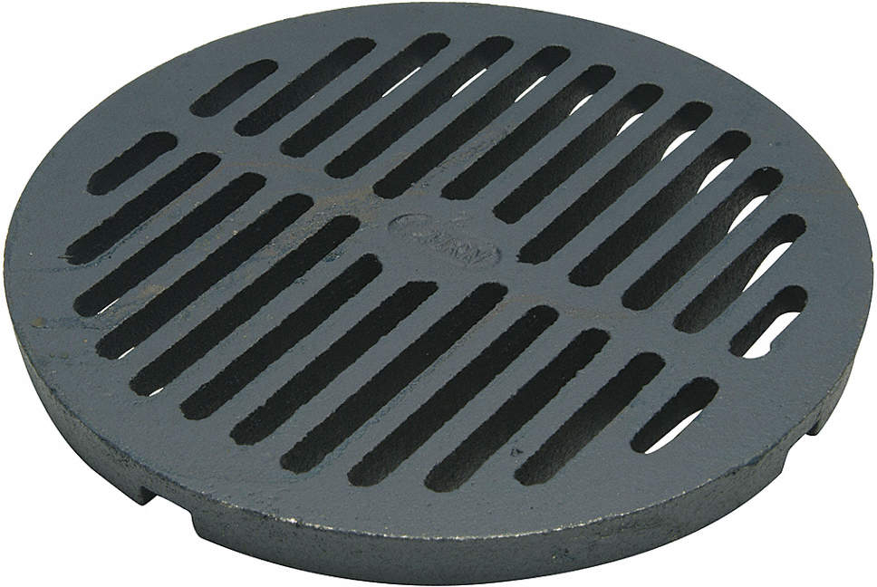 Floor Grate,Cast Iron,8 In Dia.